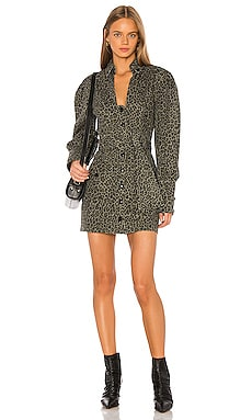 Mera Print Canvas Dress Marissa Webb $315