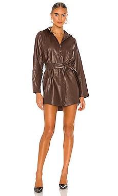 Madi Mini Leather Tunic Dress Marissa Webb $598 Collections