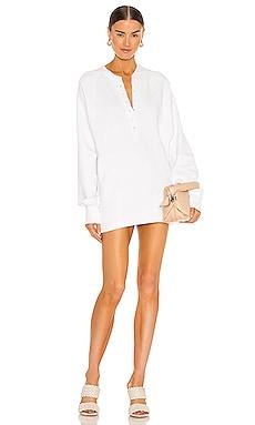 So Uptight Plunge Henley Sweatshirt Dress Marissa Webb $265