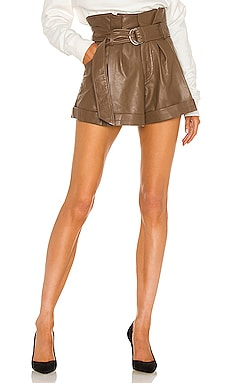 Dixon Leather Paper Bag Short Marissa Webb $298 Collections