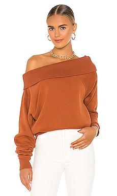 So Relaxed Off The Shoulder Plush Sweatshirt Marissa Webb $245 NEW