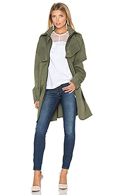 Nicholas Canvas Coat in Military Green