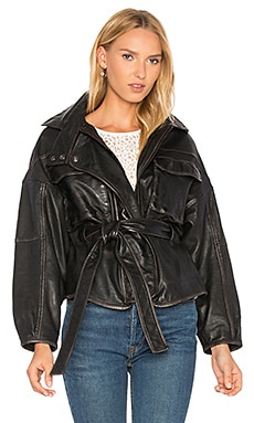 Kayla Leather Anorak