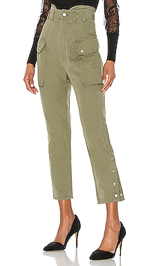 Belle Herringbone Canvas Pant Marissa Webb $398