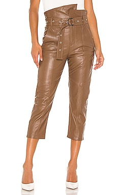 PANTALON EN CUIR ANNISTON Marissa Webb $725 Collections