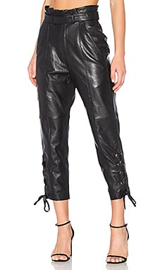 Kitana Leather Pants in Black