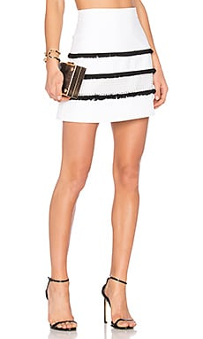Constance Mini Skirt in Lace White Combo