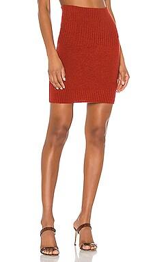 Jesse Ribbed Trim Mini Skirt Marissa Webb $119