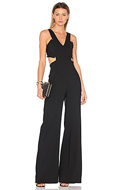 Alicia Crepe Jumpsuit in Black