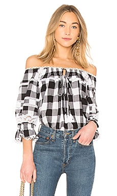 Amalia Buffalo Plaid Blouse Marissa Webb $255