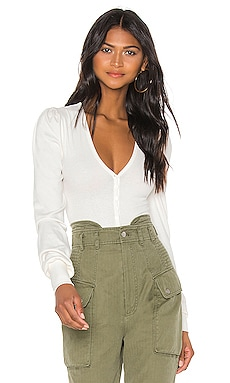 V Neck Ribbed Bodysuit Marissa Webb $145