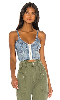 Cassidy Denim Bustier Top Marissa Webb $325