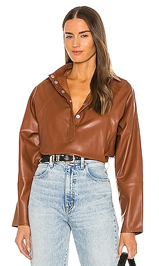 Madi Leather Tunic Top Marissa Webb $498 Collections