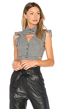 Denise Gingham Blouse in Birch