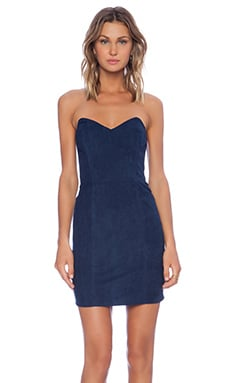 Myne Ridge Strapless Dress in Navy