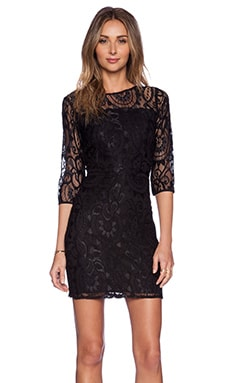 Myne Rosie Dress in Black Lace