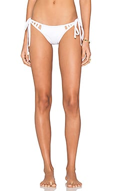 My Own Summer Itamambuca Cut Out Bikini Bottom in White
