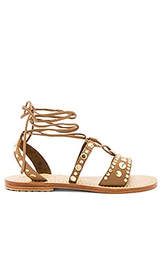 Sandal in Brown & Clear
