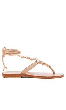 Shell Sandals in Nude & Mop