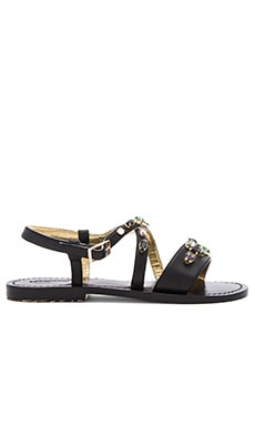 Mystique Painted Sole Sandals in Blackjet