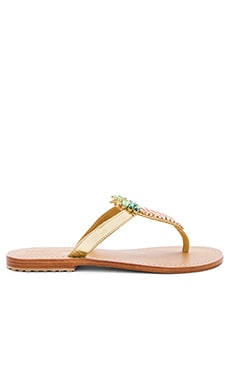Mystique Pineapple Sandals in Gold