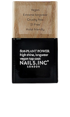 PLANT POWER 탑코트 NAILS.INC $15 NEW