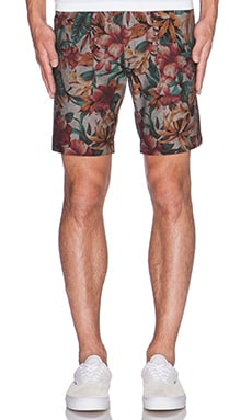 Naked & Famous Denim Slim Short Big Tropical in Blue