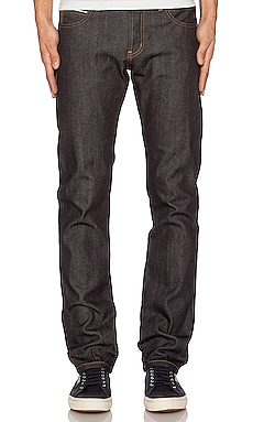 Супер облегающие брюки Guy in Left Hand Selvedge 13.75 oz из твила Naked & Famous Denim $145