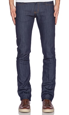 Naked & Famous Denim Skinny Guy 12oz Natural Indigo Power Stretch in True Indigo