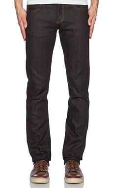 Naked & Famous Denim Skinny Guy 11.5oz Deep Indigo Stretch Selvedge in Deep Indigo