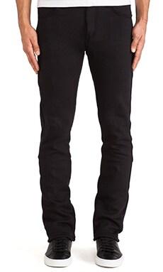 Naked & Famous Denim Sweat Jean 11oz Knit Fleece in Black