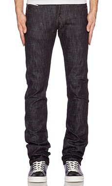 Naked & Famous Denim Skinny Guy Slub Stretch Selvedge 12.5oz in Indigo