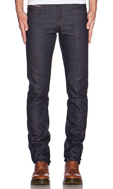 Naked & Famous Denim Super Skinny Guy Indigo x Copper Twist Selvedge 13oz in Indigo