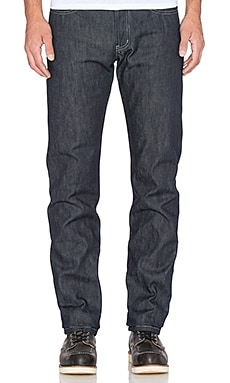 Naked & Famous Denim Weird Guy 13.5oz Old World Selvedge with Khaki Fill in Indigo