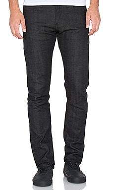 Naked & Famous Denim Super Skinny Guy 11.5oz Stretch Selvedge in Black Grey