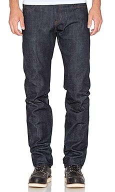 Naked & Famous Denim Skinny Guy 15oz Rigid Selvedge in Deep Indigo