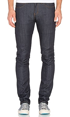 Naked & Famous Denim Super Skinny Guy 12oz Cashmere Blend Stretch Denim in Indigo