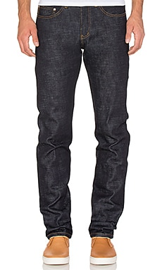Naked & Famous Denim Weird Guy 20oz Elephant 5 in Indigo