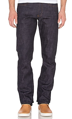 Naked & Famous Denim Weird Guy Sakura Stretch Selvedge 12.5oz in Indigo & Sakura