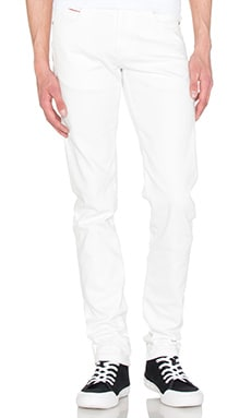 Naked & Famous Denim Super Skinny Guy White Stretch Selvedge 11oz in White