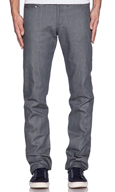 Naked & Famous Denim Weird Guy in Grey Selvedge