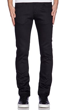 Naked & Famous Denim Super Skinny Guy 12 oz in Black Power Stretch