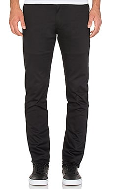 Naked & Famous Denim Slim Chino 12oz Stretch Twill in Black