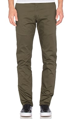 Naked & Famous Denim Slim Chino Stretch Twill in Khaki Green