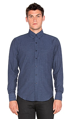 Naked & Famous Denim Regular Shirt Brushed Twill in Deep Blue