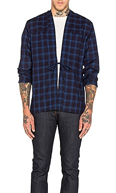 Naked & Famous Denim x REVOLVE Kimono Shirt in Indigo Dyed Plaid