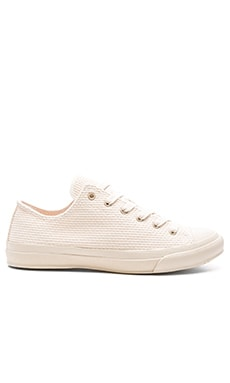Naked & Famous Denim Natural Sashiko Sneaker in Natural