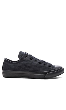 Naked & Famous Denim Black Sashiko Sneaker in Black