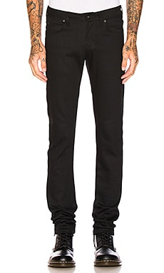 Super Skinny Guy Black Power Stretch Naked & Famous Denim $145