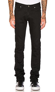Skinny Guy Black Power Stretch Naked & Famous Denim $145